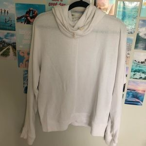 White Hoodie with unique hood